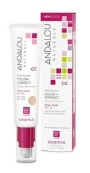 1000 Roses CC Color correct Sheer Nude SPF 30 - Andalou Naturals