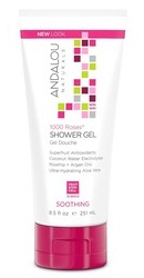 1000 Roses Soothing Shower Gel - Andalou Naturals