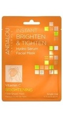Instant Brighten Tighten Hydro Serum Facial Mask - Andalou Naturals
