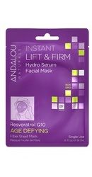 Instant Lift Firm Hydro Serum Facial Mask - Andalou Naturals