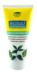 Sampon antiseboreic Biosulf urzica si nuc - Ceta