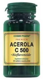 Acerola C 500 mg bioflavonoide - Cosmopharm