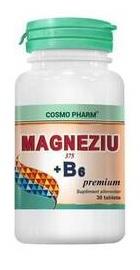 Magneziu 375 B6 Premium Formula - Cosmopharm