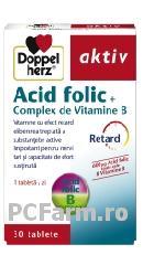 Acid Folic + Complex de Vitamine B, vitamine retard - DoppelHerz