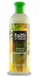 Balsam de par cu grapefruit si portocale pentru par normal sau gras - Faith in Nature
