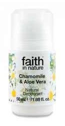 Deodorant roll on natural cu musetel si aloe vera - Faith in Nature
