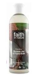 Gel de dus si spuma de baie cu cocos - Faith in Nature