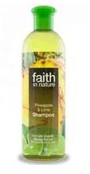 Sampon cu ananas si lime pentru par normal sau gras - Faith in Nature