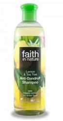 Sampon anti-matreata cu lamaie si tea tree pentru toate tipurile de par -  Faith in Nature