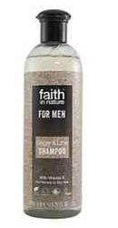 Sampon barbati cu ghimbir si lime pentru parul normal sau uscat - Faith in Nature