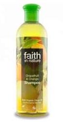 Sampon cu grapefruit si portocale pentru par normal sau gras - Faith in Nature
