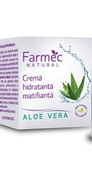 Natural Crema hidratanta matifianta cu Aloe Vera - Farmec
