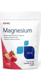 Magneziu 250 mg cu aroma Capsuni - GNC