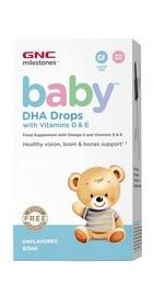 Milestonesa Baby Picaturi cu DHA si Vitamina D si E - GNC
