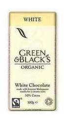 Ciocolata organica alba cu vanilie - Green Blacks