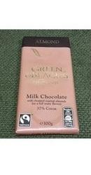 Ciocolata organica lapte cu migdale - Green Blacks
