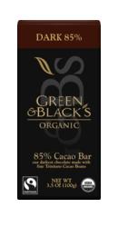 Ciocolata neagra cu 85 la suta cacao - Green Blacks
