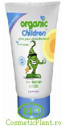 Lotiune copii protectie solara levantica SPF25 - Green People
