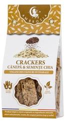 Crackers vegani cu seminte de canepa, in si chia - Ambrozia