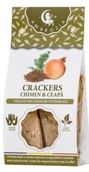 Crackers vegani cu chimen si ceapa - Ambrozia