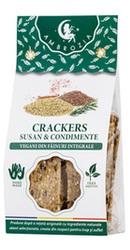 Crackers vegani cu susan si condimente - Ambrozia