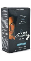 Colagen si Acid Hialuronic Barbati -  Interherb