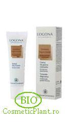 Crema coloranta BIO Logona-bronz-auriu pentru ten mixt sau gras