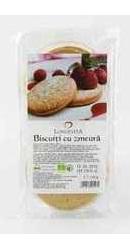 Biscuiti cu crema de zmeura - Longevita