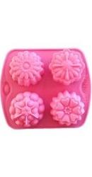 Forma de sapun Flori 4 cavitati - Mayam