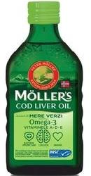 Ulei din ficat de cod Omega 3 cu aroma de mere verzi – Moller s