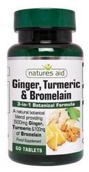 Ginger Turmeric Bromelain - Natures Aid