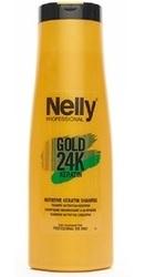 Sampon nutritiv cu keratina si ulei de argan Gold 24K Keratin - Nelly Professional