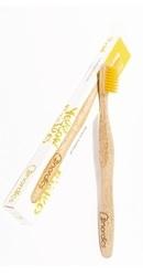 Periuta de dinti din bambus adulti Galben - Nordics
