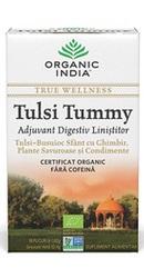 Ceai Digestiv Tulsi Tummy cu Ghimbir - Organic India