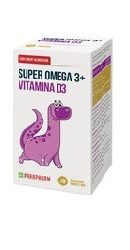 Super Omega 3 Vitamina D3 30 bomboane gumate - Parapharm
