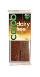 Baton vegan ciocolata organica cu Carob Fara Zahar - Plamil