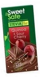 Ciocolata cu lapte, Quinoa si visine - Sly Nutritia
