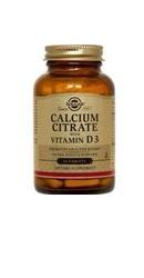 Calcium Citrat 250 mg cu Vitamina D3 - Solgar