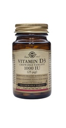 Vitamin D3 1000 IU 100 tablete masticabile - Solgar