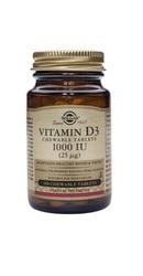 Vitamin D3 1000 IU 100 tablete masticabile - Solgar