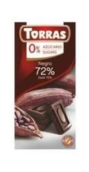 Ciocolata neagra 72 la suta cacao fara zahar - Torras