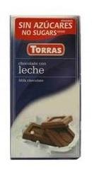 Ciocolata cu lapte  fara zahar - Torras