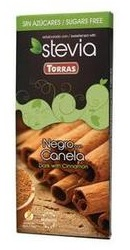 Ciocolata neagra cu scortisoara si Stevia  - Torras