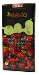 Ciocolata neagra cu fructe de padure si Stevia - Torras