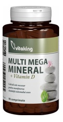 Multi Mega Multiminerale cu vitamina D  - Vitaking