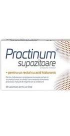 Proctinum Supozitoare cu acid hialuronic - Zdrovit