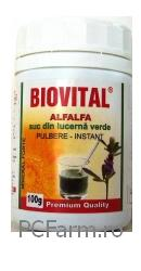 Alfalfa - Suc din lucerna verde - Biovital