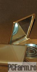 Caseta pentru pudra compacta, cu oglinda, completa - Mayam