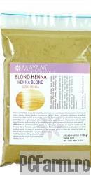 Colorant Pentru Par Henna Blond Mayam 100 Gr Coloranti Vegetali