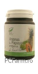 Ananas si Papaya 100 comprimate - Medica
